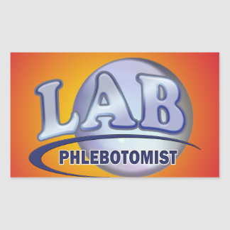 PHLEBOTOMIST Fun Blue LOGO Rectangular Sticker