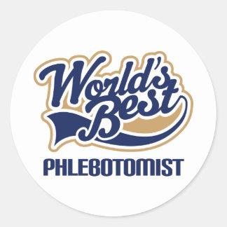 Phlebotomist Gift Classic Round Sticker