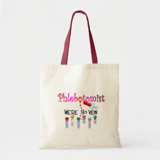 Phlebotomist gifts budget tote bag