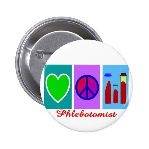 Phlebotomist Gifts Button