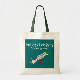 """Phlebotomist Gifts """"It's all in vein"""" Tote Bag"""