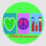 Phlebotomist Gifts Round Stickers