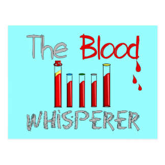 Phlebotomist Gifts The Blood Whisperer Post Cards