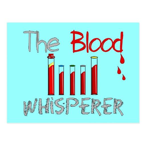 "Phlebotomist Gifts ""The Blood Whisperer"" Postcard"
