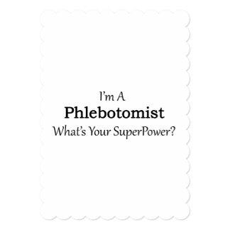 "Phlebotomist Invitación 5"" X 7"""