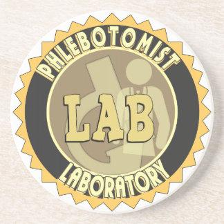 PHLEBOTOMIST LABORATORY BADGE LOGO COASTER