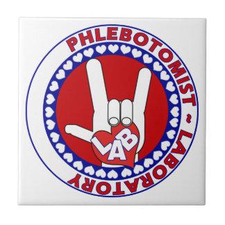 PHLEBOTOMIST LOVE LOGO LABAORTORY TILE