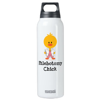 Phlebotomist Phlebotomy Chick Insulated Water Bottle