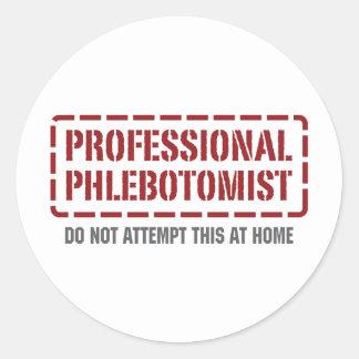Phlebotomist profesional pegatina redonda