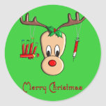 Phlebotomist Reindeer Christmas Gifts Sticker
