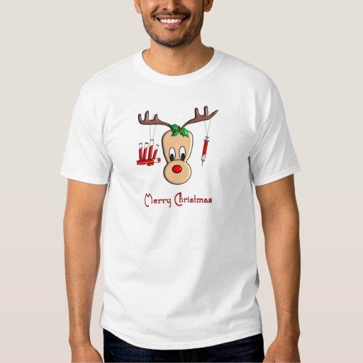 Phlebotomist Reindeer Christmas Gifts T-Shirt