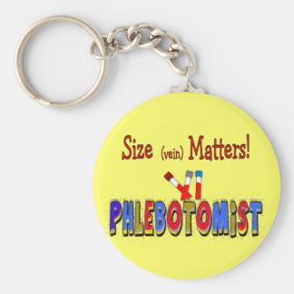 Phlebotomist Size (Vein)  Matters Keychain