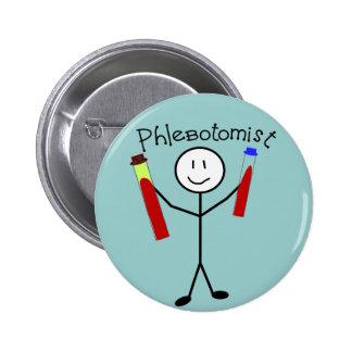 Phlebotomist Stick Person 2 Inch Round Button