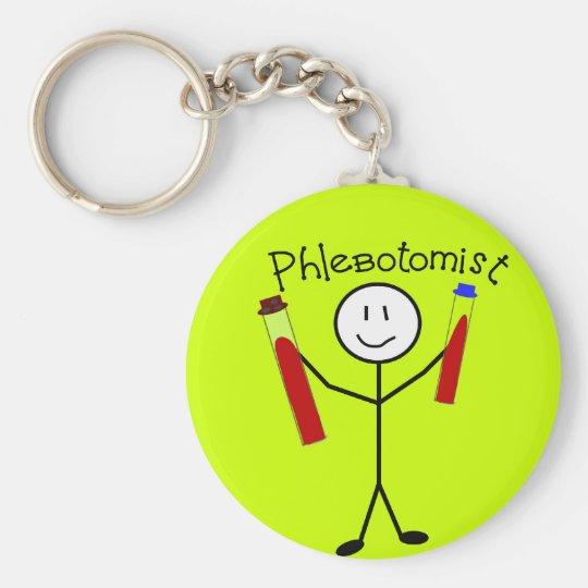 Phlebotomist Stick Person Keychain