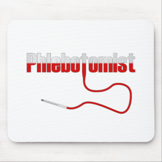 Phlebotomist with Needle Logo Mouse Pad