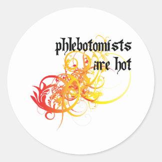 Phlebotomists es caliente etiquetas redondas