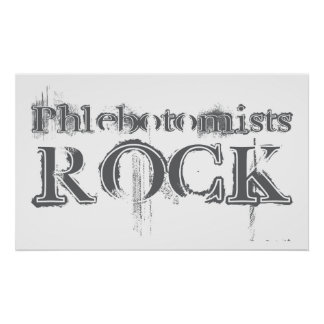Phlebotomists Rock Poster