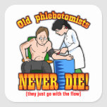 Phlebotomists Square Stickers