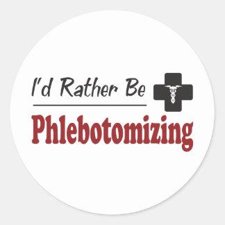 Phlebotomizing bastante etiqueta redonda