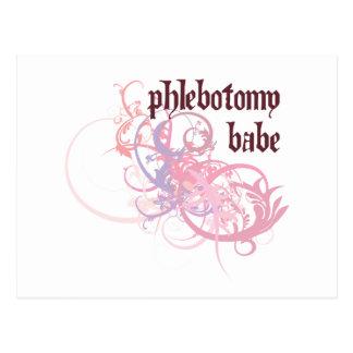 Phlebotomy Babe Postcard