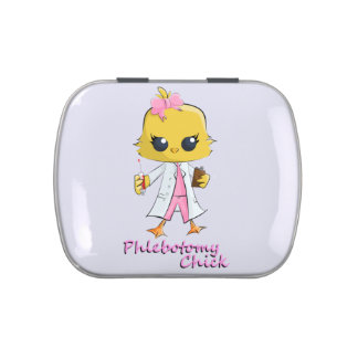 Phlebotomy Chick Candy Tin White