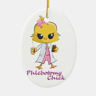 Phlebotomy Chick Ceramic Ornament