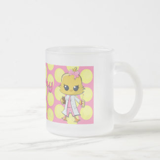 Phlebotomy Chick Dots Frosted Frosted Glass Mug
