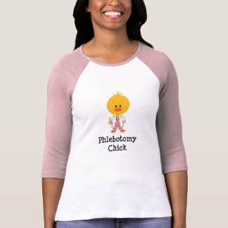 Phlebotomy Chick Raglan T shirt