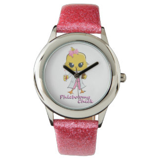 Phlebotomy Chick Watch Pink