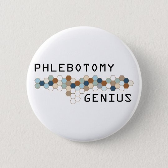 Phlebotomy Genius Button