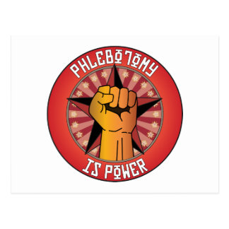 Phlebotomy Is Power Postcard