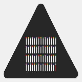 Phlebotomy Tubes Triangle Sticker