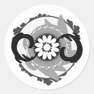 Phlowery Round Sticker