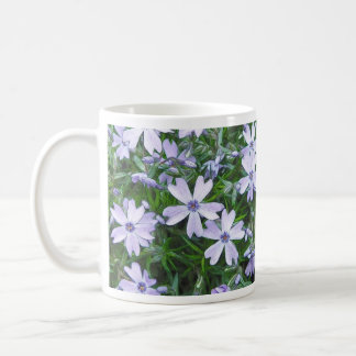Phlox azul bonito del arrastramiento taza de café