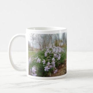Phlox del arrastramiento del día lluvioso taza