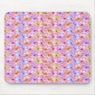 Phlox Pastel Lavender Peach Pink Flowers floral Mouse Pad