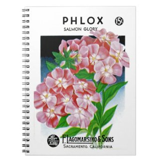 Phlox Seed Packet Label Notebook