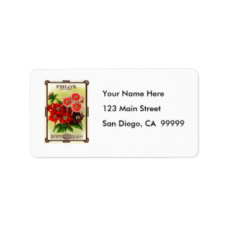 Phlox Seeds from Burt s Personalized Address Label