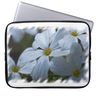 Phlox White Edge Laptop Sleeve