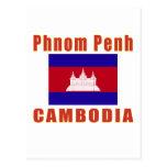 Phnom Penh Cambodia capital designs Postcard
