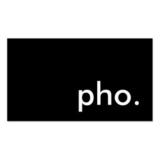 pho business card template