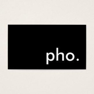 pho. business card