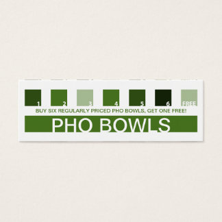 PHO customer appreciation (mod squares) Mini Business Card