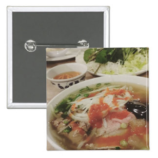Pho delicious pinback button
