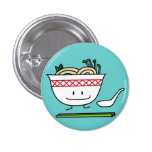 Pho Happy Button Pin
