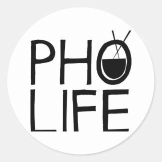 Pho Life Classic Round Sticker