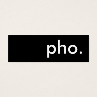 pho. loyalty punch card
