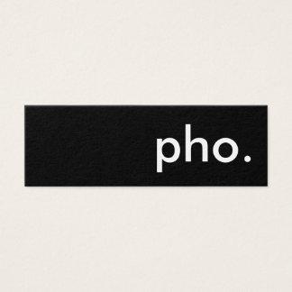 pho. mini business card
