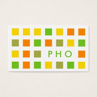 PHO (mod squares) Business Card