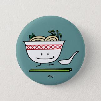 Pho Noodle Bowl Vietnam soup spoon chopsticks Pinback Button